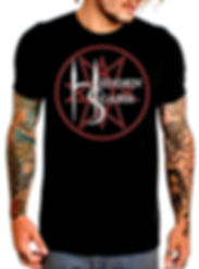Alternative Style Clothing and Apparel for Electro Goth Sludge Metal Hard Rock Band Hidden Scars. Pentagram 10 Point Star Logo T Shirt Men's.