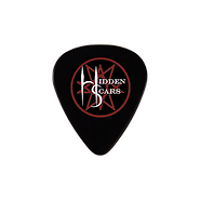 Alternative Style Clothing and Accessories for Electro Goth Sludge Metal Hard Rock Band Hidden Scars. Pentagram 10 Point Star Logo Guitar Pick.