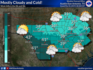 Highs in the low 30s today, A hard freeze is to be expected