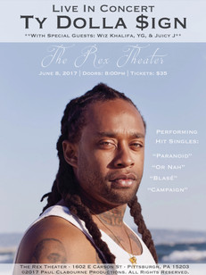 Ty Dolla $ign Concert Poster (Rex Theater)