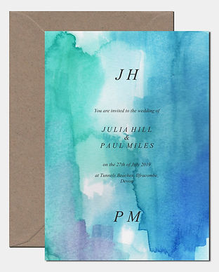 Sea Breeze Watercolour Invite