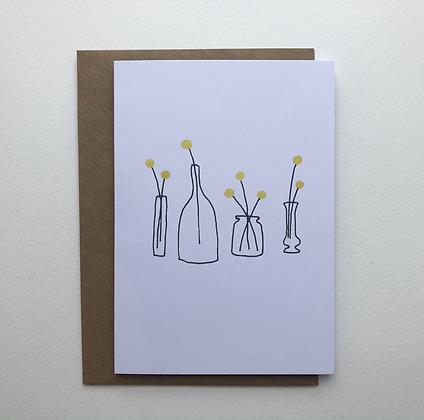 Yellow Pom Pom Card