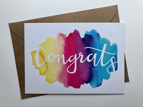 Congrats postcard