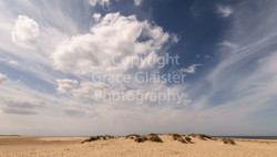 Clouds over Wells Beach  by Grace Glaist