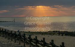Setting Sun West Runton by Grace Glaiste