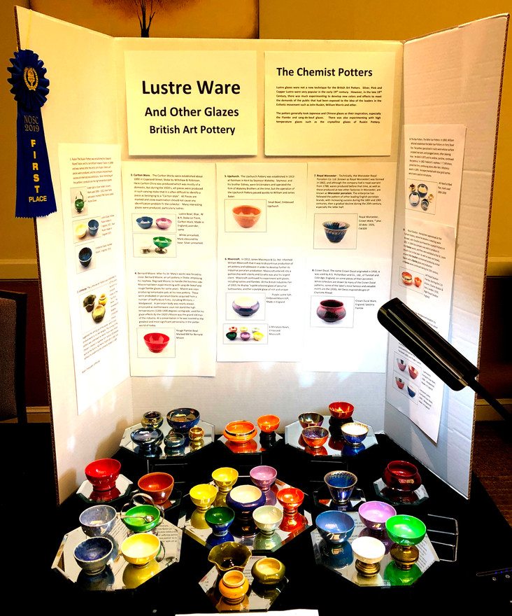 Convention Display - Luster Ware & Other Glazes