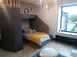 bespoke bed with play area