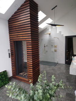 Fire place in Bathroom