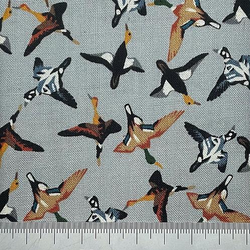 Geese cotton print - grey