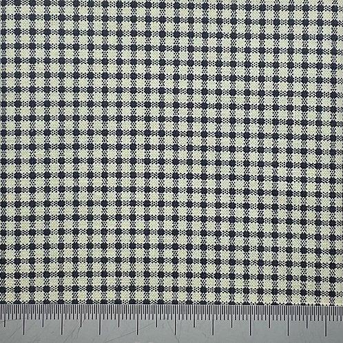 Tiny black check cotton print