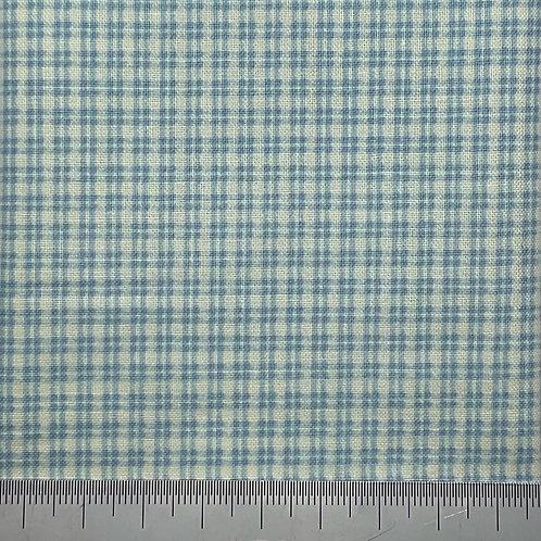 Blue check cotton print