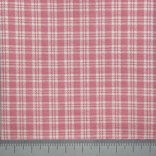 Pink tartan cotton print