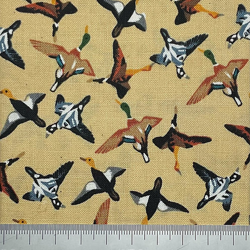 Geese cotton print - yellow