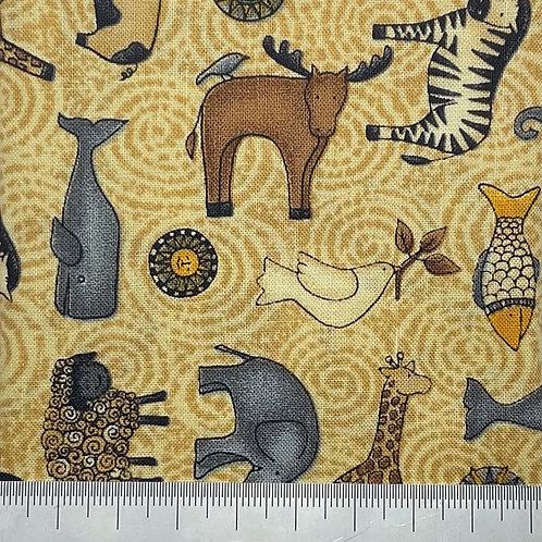 Mixed animal cotton print