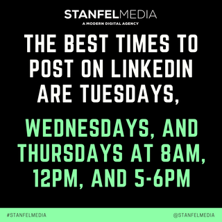 THE BEST TIMES TO POST ON LINKEDIN ARE T