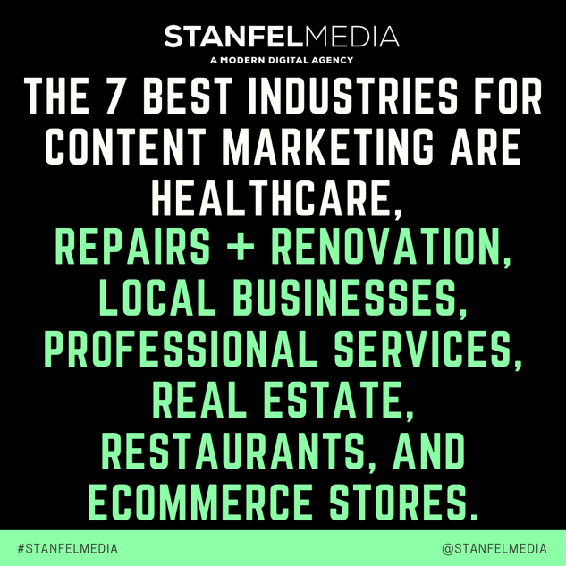 THE 7 BEST INDUSTRIES FOR CONTENT MARKET