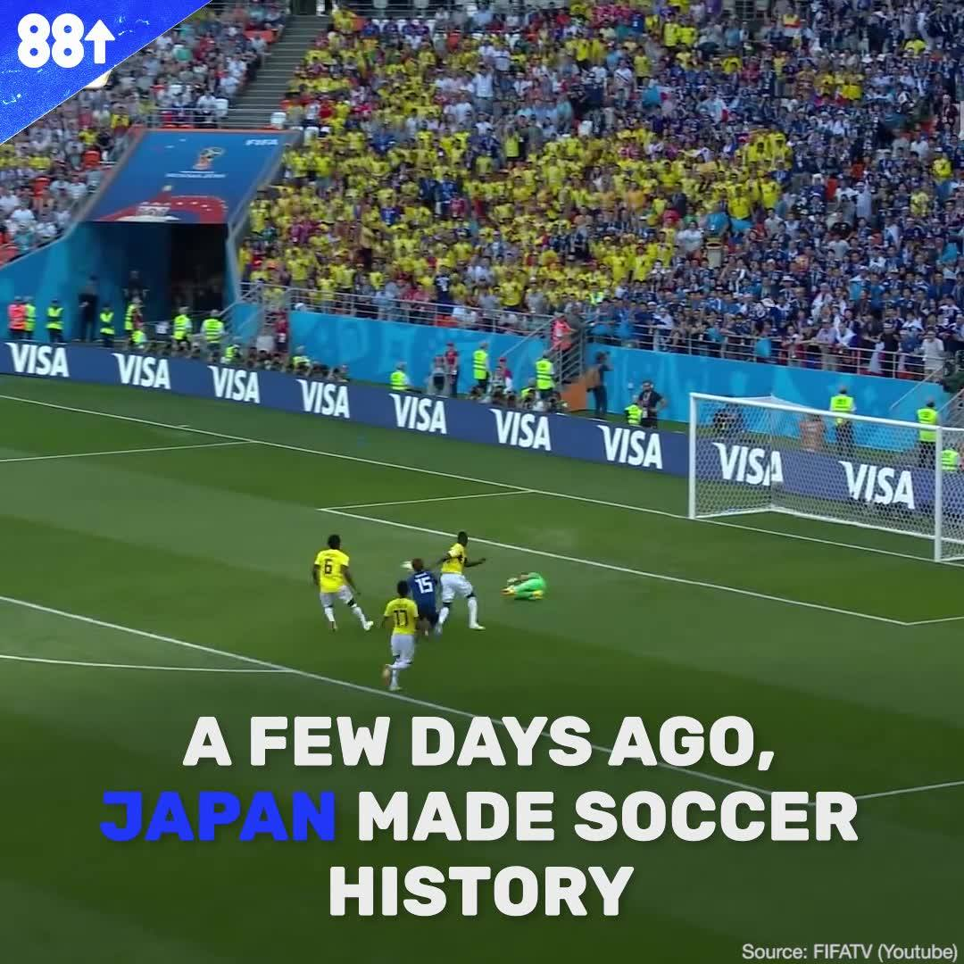 Japan broke history by being the first Asian team to beat a South American team at the World Cup - and the reaction was wild.