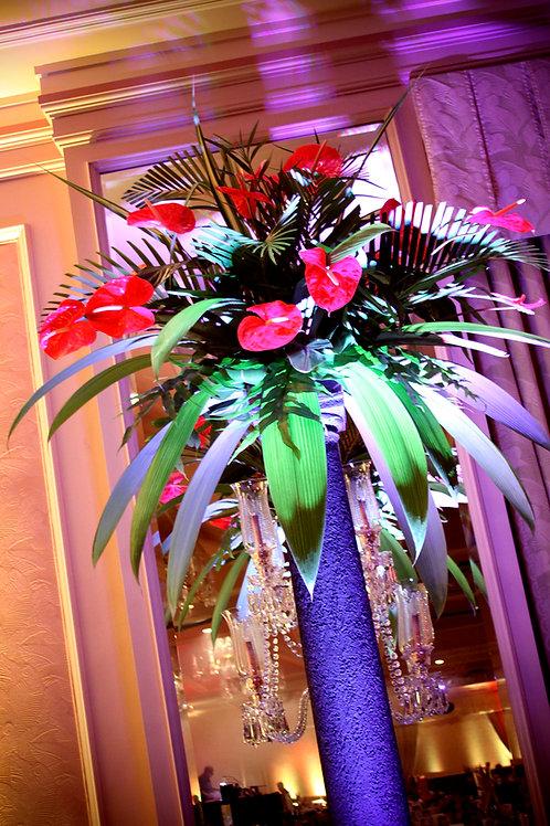 Floral Lava Column