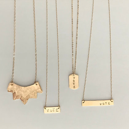 VOTE Dog Tag Necklace