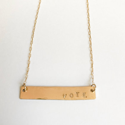 Large VOTE Necklace