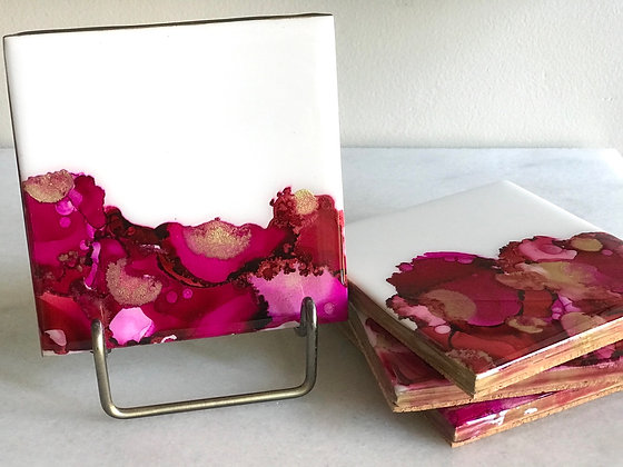 Art Box: Alcohol Ink Coasters