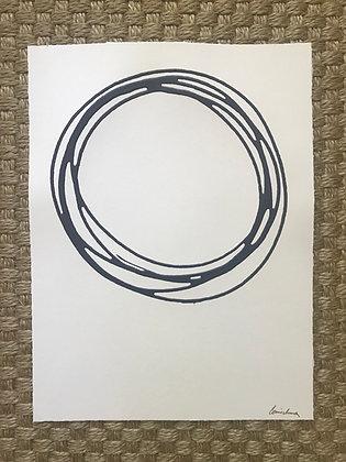 Messy Circle in Navy VI