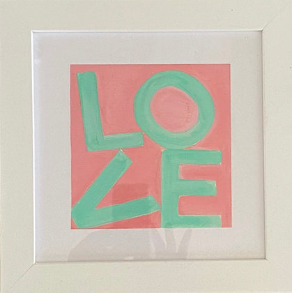 Love Squares - Coral & Green