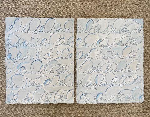 Blue Cursive I & II