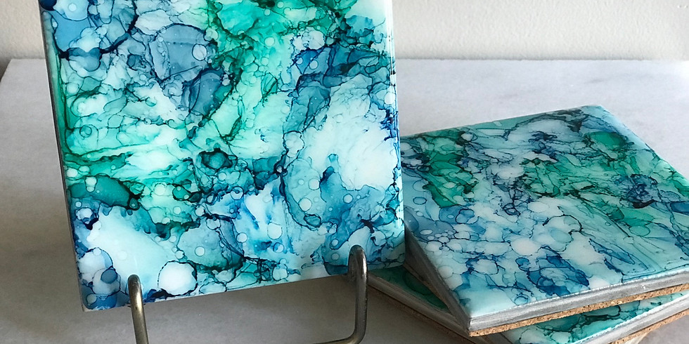 MJ PRIVATE WORKSHOP: Alcohol Ink Coasters