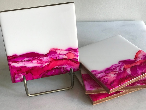 Pink Waves | Coasters