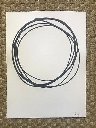 Messy Circle in Navy VII