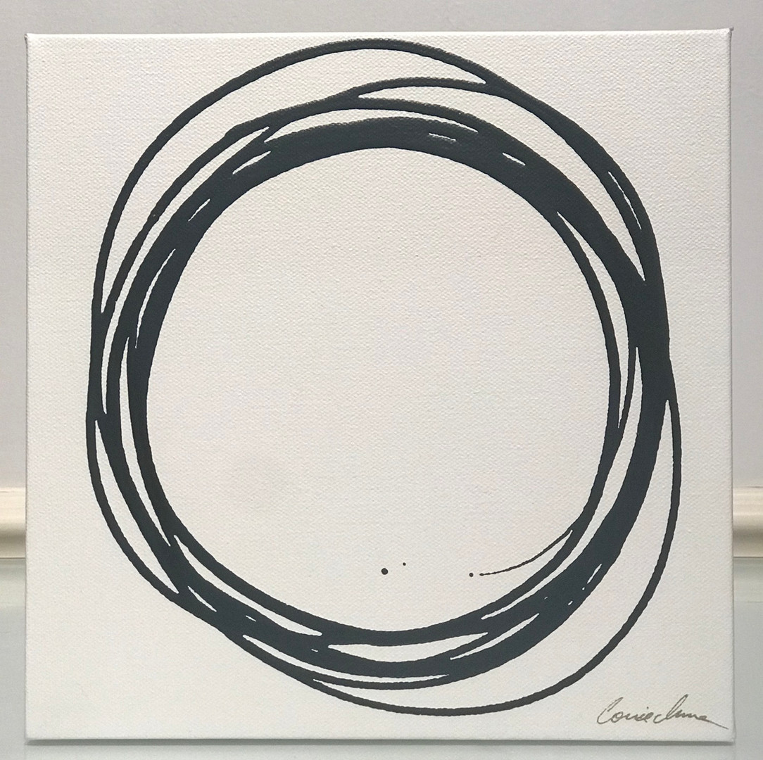 Messy Circle in Charcoal I