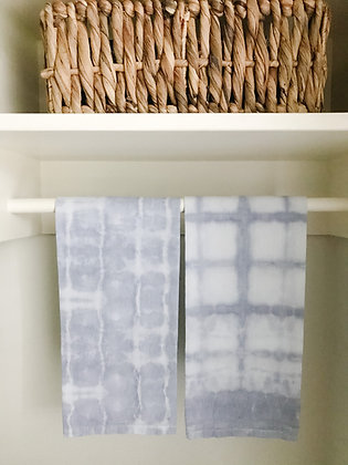 Hand Dyed Towels - Light Gray