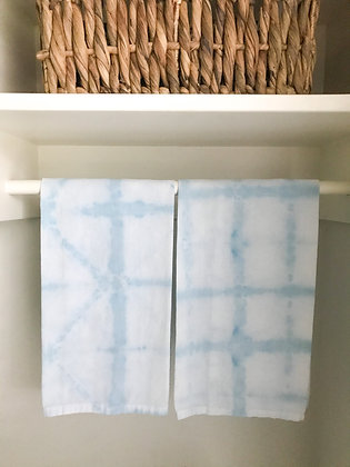 Hand Dyed Towels - Light Blue