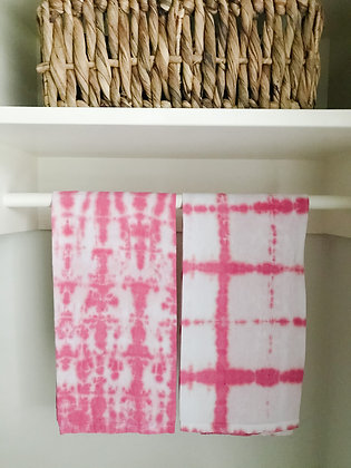 Hand Dyed Towels - Watermelon