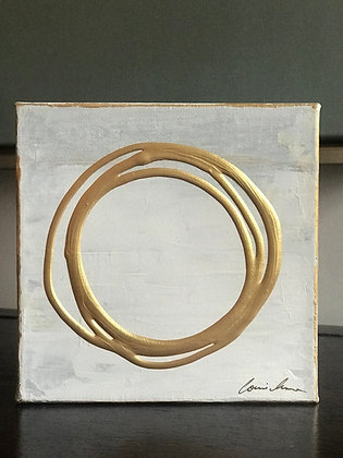 Messy Circle in Gold I