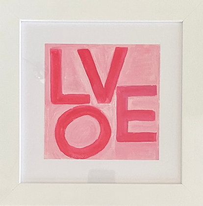 Love Squares - Pink & Red