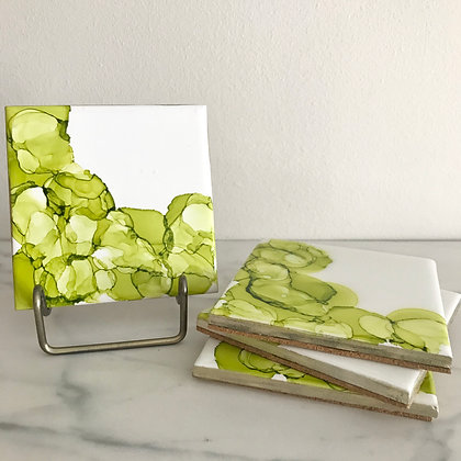 Lime Green Circles | Coasters