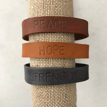 Stamped Leather Bracelets