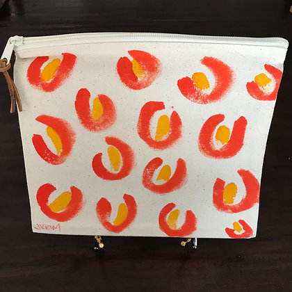 Leopard Tote: Orange/Yellow
