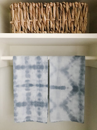 Hand Dyed Towels - Gray