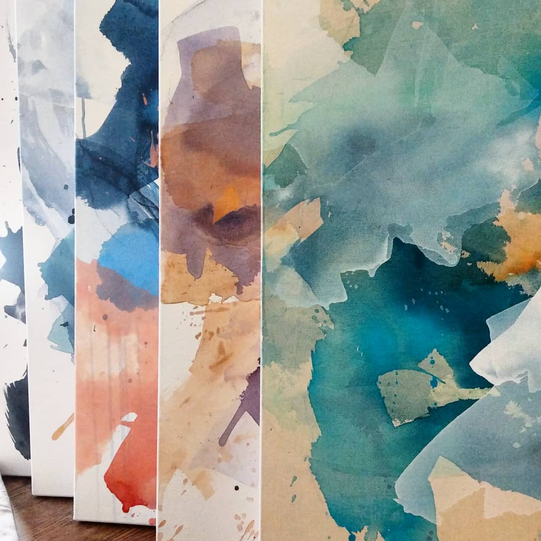 Selection of Watercolor on Canvas