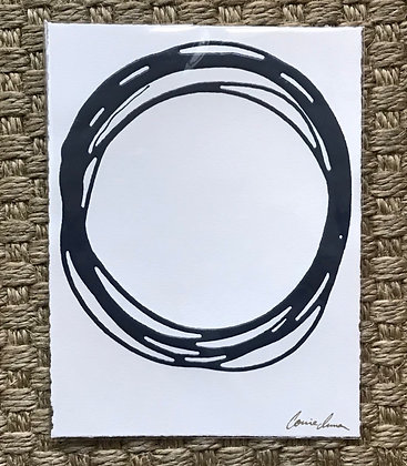 Messy Circle in Navy (on Paper)