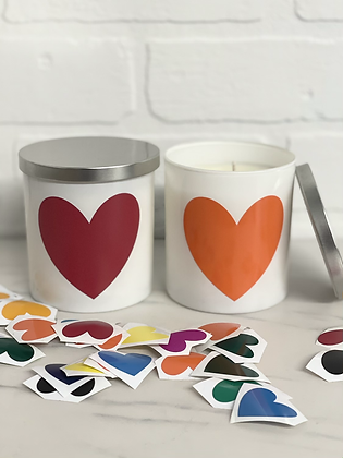 Hand Poured Heart Candles
