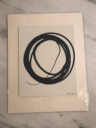 Messy Circle in Navy II (unframed)