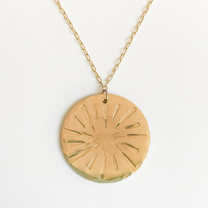 Stamped Sun Necklace