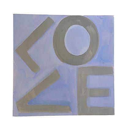 Love Squares - Light Purple & Gray