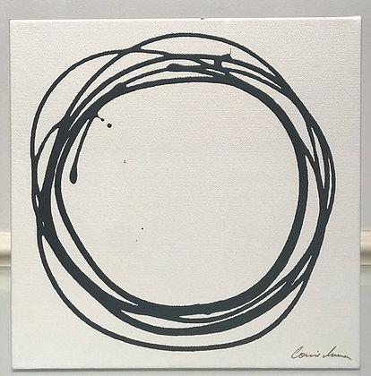 Messy Circle in Charcoal II