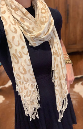 Hand Painted Leopard Pashmina
