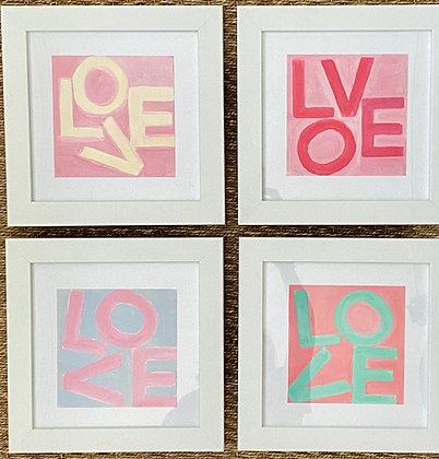 Love Squares - Pink & Blue